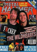 Metal Hammer Magazine August 1995  Wildhearts Skid Row Type O Negative Sepultura
