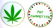 Pot Committed METAL Heavy Poker Card Guard Hand Protector Lucky Coin NEW