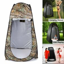 Portable Green Pop Up Tent Camping Beach Toilet Shower Changing Room + Window @W