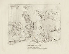 1805 Raffaello incisione in acciaio Psichè elevata da Zefiro
