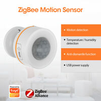 Tuya Zigbee Smart PIR Motion Sensor Temperature Humidity Detector APP Control