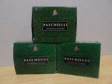 Patchouli Incense Cones  3 Boxes x 10  Total 30 Cones  KAMINI  Free Post AU