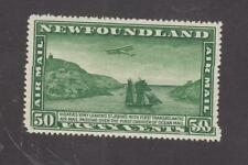 NEWFOUNDLAND # C7 VF-MLH UN-WMK AIRPLANE AND PACKET SHIP CV $45 FREE SHIP