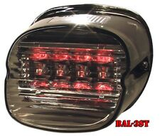 Bright Ass Lights LED Taillight for H-D - Smoked Lens Laydown with Tag Window