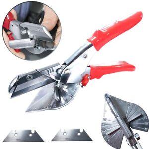 Adjustable Multi Angle Miter Cutter Shear Scissors Branch Trim Tool + 2 x Blades
