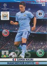 175 SAMIR NASRI MANCHESTER CITY.FC  CARD CHAMPIONS LEAGUE ADRENALYN 2015 PANINI
