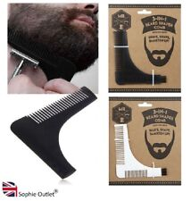 3 in 1 BEARD STYLING TOOL Shaping Template Comb Symmetry Line Up Trimming Guide