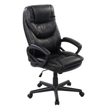 Black PU Leather High Back Office Chair New Task Ergonomic Computer Desk