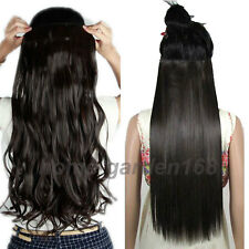 """Long 17-30"""" 3/4 Full Head Clip In HAIR EXTENSIONS EXTENTIONS Party Colors hg23"""