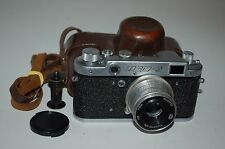 Fed-2 (Type B4) Vintage 1958 Soviet Rangefinder Camera & Case. Serviced.  296670
