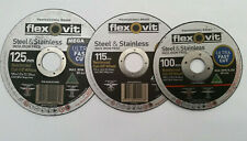Flexovit cutting disc ultra thin 1mm  x 100mm 115mm  125mm for steel & stainless