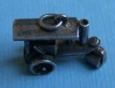 Vintage movable steam roller sterling charm