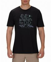 Hurley Mens T-Shirt Black Size XL Soft Flamingo Crewneck Graphic Tee #146
