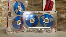 1 Blue Reel 2 Reel C60 blank cassette tape NEW to 2017 retro vintage look audio
