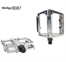 "Wellgo 9/16"" Alloy Pedals Flat/Platform MTB BMX/Mountain Bike Pedals Silver New"