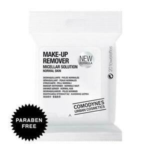 Comodynes Make-Up Remover Normal Skin Face & Eyes Towelettes