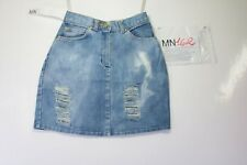 MINI Jupe Lee jupe Destroyed(Cod.MN162) tg41 W27 jeans d'occassion vintage