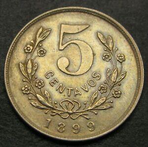 NICARAGUA 5 Centavos 1899 - Copper/Nickel - XF/aUNC - 1138