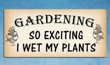 Metal signs Gardening plants home funny tin wall door plaques 20 x 9.5cm