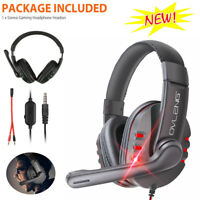 For PS4 Xbox One Nintendo Switch PC 3.5mm Stereo Wired Gaming Headset Headphone