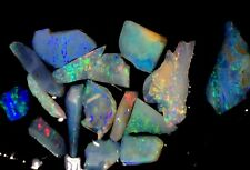 15cts. Australian Bright Opal Gem Slices, Brilliant Fire/Glow, Inlay Pieces