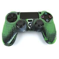 PS4 Controller Grip Skin Green Swirl Silicone Case Shell Non Slip Cover