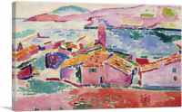 ARTCANVAS View of Collioure 1905 Canvas Art Print by Henri Matisse
