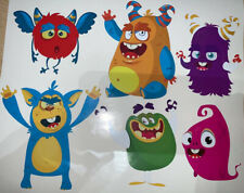 Monster Bedroom wall / toy box Vinyl stickers  Scary Funny