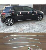 modanature 8pz Cromate sotto finestrini Acciaio Renault Clio IV 5p raschiavetri
