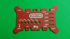 Oregon saw chain file measuring tool pitch gauge for all chain saws