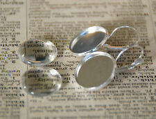 10 x 18mm Earring Findings Silver Earrings Trays and Glass cabochon DIY