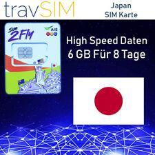 Japan Prepaid Daten SIM Karte SIM2Fly mit 6 GB für 8 Tage