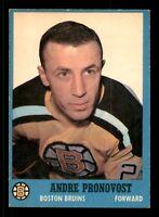 ANDRE PRONOVOST  62-63 TOPPS 1962-63 NO 9 EX+  12513