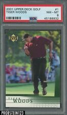 2001 Upper Deck Golf #1 Tiger Woods PSA 8 NM-MT