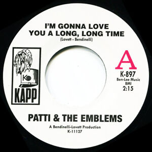 PATTI & THE EMBLEMS  I'M GONNA LOVE YOU A LONG LONG TIME  Soul Northern Motown