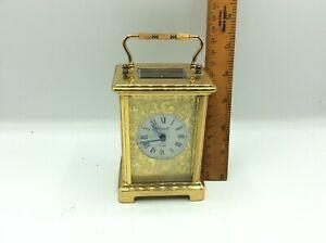 Fantastic Antique Vintage Bayard 8day Brass Cased Mechanical Carriage Clock