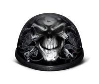 Daytona Helmets Skull Cap EAGLE- W/ CROSS BONES Motorcycle Helmet