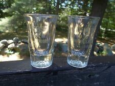 Vintage Boston MA, Singers Wines and Liquors, Shot Glass Lot of 2