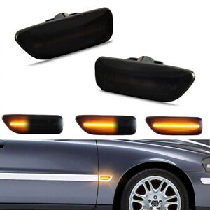 For Volvo XC90 S60 S80 V70 Sequential LED Side Marker Fender Turn Signal Lights