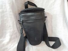 """Rokinon TP-450 SLR Camera and Lens Case 10"""" Leather"""