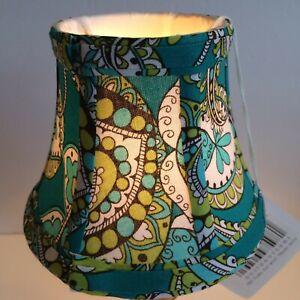 Vera Bradley PEACOCK pattern Mini Fabric Lamp Shade
