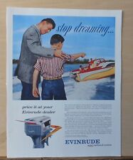 1958 magazine ad for Evinrude Outboard Motors - Stop Dreaming, Starflite V-4