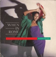"""When In Rome Everything UK 45 7"""" single +Picture Sleeve"""