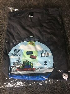 Microsoft Sportage Mens T Shirt Tee M Containers In The Cloud -Softwear- Geek