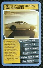 1 x Top Trumps card Top Gear 2 Cool Cars - Bentley Continental Supersports
