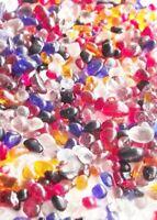 Glass Mini Pebbles Mixed Colours 3-6mm Mosaic Wedding Craft Aquarium Memorial
