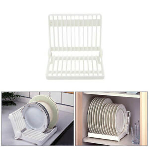 Plastic Cupboard Plate Storage Holder Kitchen Home Dish Cutlery Drainer Rack
