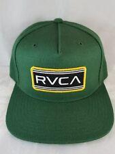 ef291659 RVCA VA adjustable Snapback Hat green color