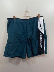 Speedo Green White Drawstring Swim Trunks Men's Size XL