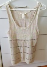 BILLABONG Size 8 Sleeveless Crochet Top Boho Multi-coloured Rainbow